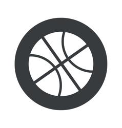 Monochrome round basketball icon vector image