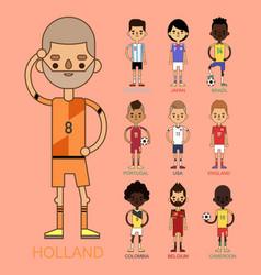 National euro cup soccer football teams vector