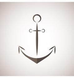 Nautical anchor two colors anchor icon vector