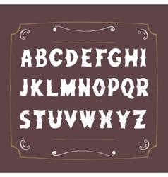 Retro alphabet Hand drawn Letters vector image