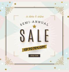Retro style sale banner vector