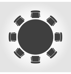 Round table icon vector