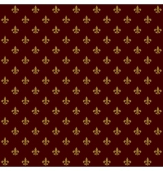 Royal Lily Fleur de Lis Seamless Pattern vector image