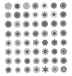 Set of decorative sun Logo and design elements vector image vector image