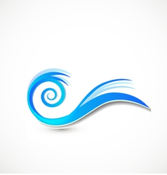 Swirly blue waves logo vector image vector image