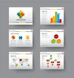 Template for presentation slides vector