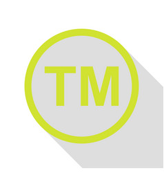 Trade mark sign pear icon with flat style shadow vector