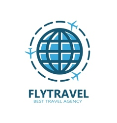 World travel symbol airplane vector image