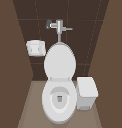 Flush toilet vector