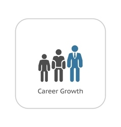 Career growth icon flat design vector