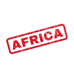 Africa rubber stamp vector