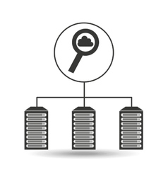 Search cloud data center connection vector