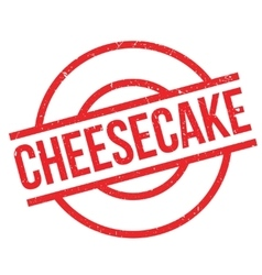 Cheesecake rubber stamp vector
