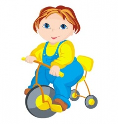 child driver vector image