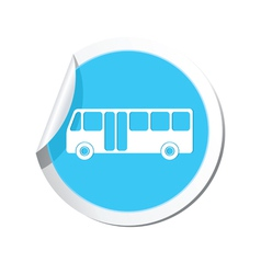 Bus icon round blue vector