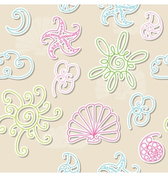 Seamless summer patter vector image