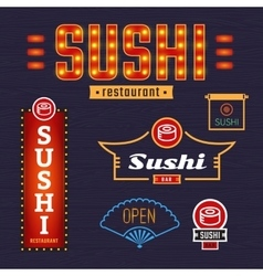 Signs sushi vector