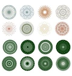 pattern rosette guilloche for document eps 8 vector image