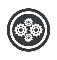 Round black cogs sign vector