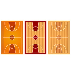 Basketball courts with different floor design vector image