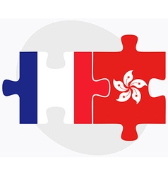 France and hong kong sar china vector