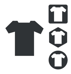 T-shirt icon set monochrome vector
