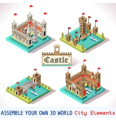 Castle 03 tiles isometric vector