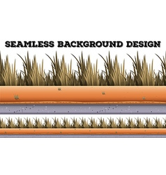 Seamless background with dry grass vector
