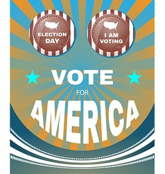 Vote for america every vote counts banner vector