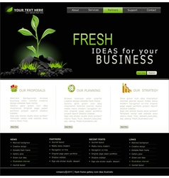 web site for business black with green sprout vector image
