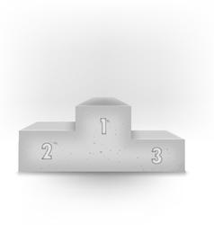 3d stone podium vector