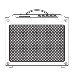 Classic guitar amplifier vector