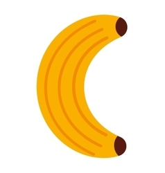 Delicious fruit banana isolated icon design vector