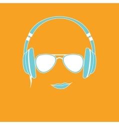 Man with headphones vector
