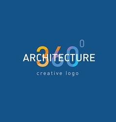 Development logo architecture vector