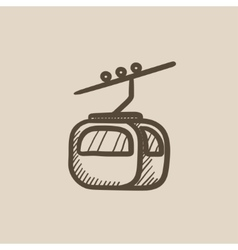 Funicular sketch icon vector