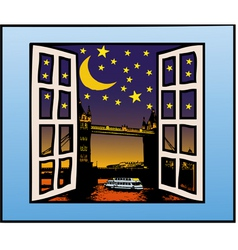 a window on the london vector image vector image