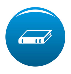Book biology icon blue vector