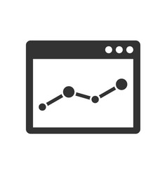 browser window with chart icon vector image vector image