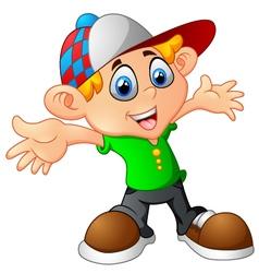 cartoon little boy vector image