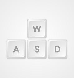 Computer keyboard wasd gaming buttons vector
