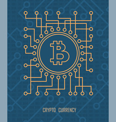 Crypto currency monetary vector