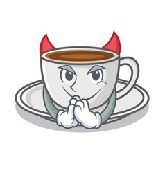 Devil coffee character cartoon style vector