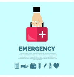Emergency concept flat vector