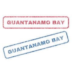 Guantanamo bay textile stamps vector
