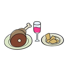 Handdrawn food vector image