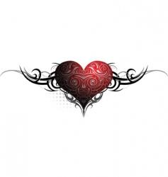 heraldic heart vector image vector image
