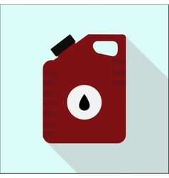 Icon cans of engine oil service concept flat vector