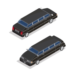 Isometric transportation luxury limousine car vector