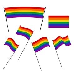 Lgbt rainbow flags vector